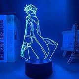 Lampe 3D LED The Irregular at Magic High School Tatsuya Shiba pour décoration de chambre à coucher, cadeau d'anniversaire, télécommande