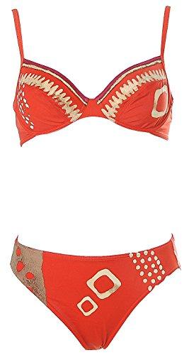 Rasurel Damen Bügel Bikini Orange 36 Cup C