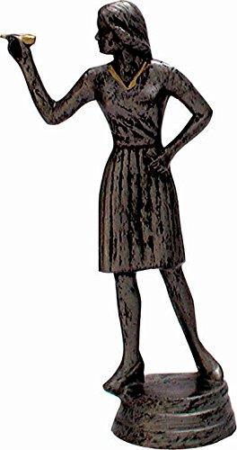 RaRu Dart-Pokal (Damen) auf weißem Marmorsockel montiert mit Wunschgravur (34118)