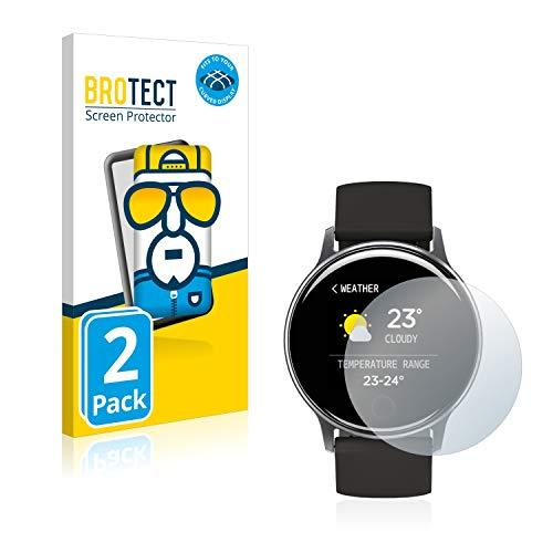 BROTECT Full-Cover Schutzfolie kompatibel mit Umidigi Uwatch 2S (2 Stück) - Full-Screen Displayschutz-Folie, 3D Curved, Kristall-Klar