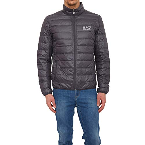 Mens Emporio Armani EA7 Quilted Down Jacket In Anthracite