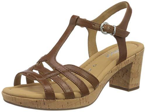 Gabor Shoes Damen Comfort Sport Riemchensandalen, Braun (Peanut (Kork) 54), 38 EU