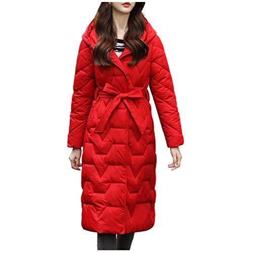 Winterjacke Damen Lang Mantel Winter Jakce Schwarz Parka Jacke Winterparka Daunenjacke Outwear Fellkapuze ☆Elecenty☆ Hooded Coats Outerwear Jacket Mantel
