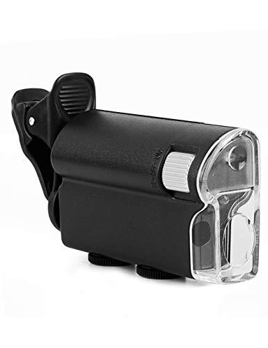Vergrootglas lezen 60x HD Micro Vergrootglas, twee kleuren Light Source, Mini microscoop, kan worden gebruikt met mobiele telefoons, draagbare Filatelistische sieraden, thee Smoke Stamps, Identificati