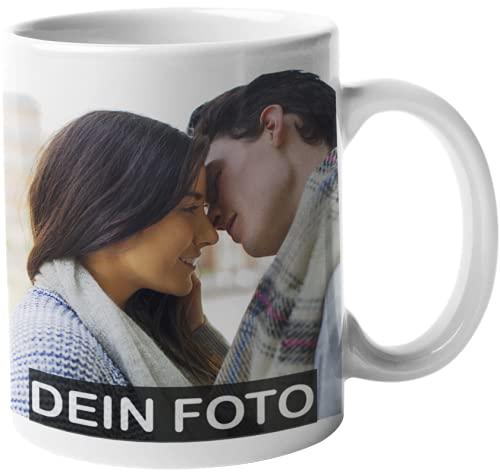 Tasse mit Foto & Text bedrucken Lassen - Fototasse Personalisieren - Kaffeebecher zum selbst gestalten