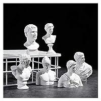 QXDZSWB. ミニチュア石膏像工芸石膏の彫刻北欧ホームデコレーション (Color : 11 Apollo, Size : Height 6 to 7cm)