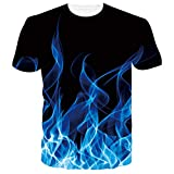 RAISEVERN Camisetas 3D Beer Dorado Hombre Mujere Verano Casual Manga Corta Camiseta Tops Ropa S