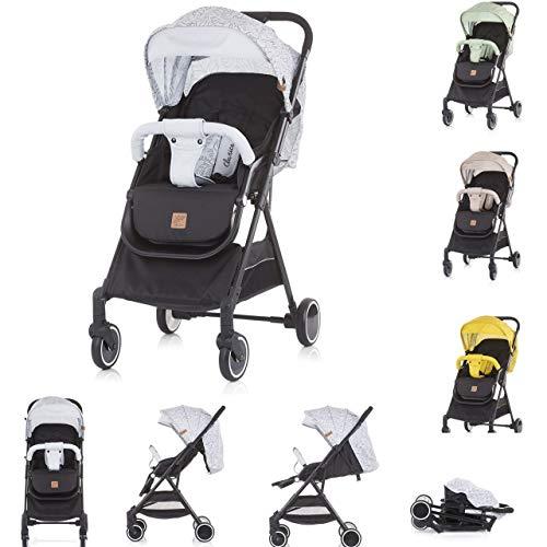 Chipolino, Kinderwagen Buggy Clarice Rückenlehne verstellbar klappbar Sonnendach, Farbe:grau