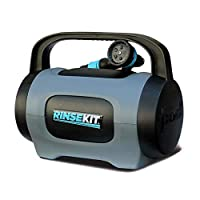 Pressurized spray for up to 5 minutes Holds 2 US gallons of hot or cold water Quickly fills from hose spigot or sink Heater and pump accessories can be used simultaneously - Hot water anywhere, great for camping! Comes with a hose nozzle, 6' hose, ho...