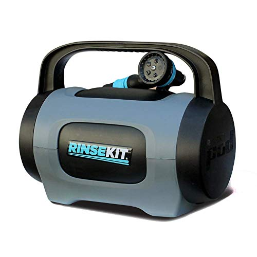 RinseKit Unisex's Plus Portable Shower, Black/Blue, one Size