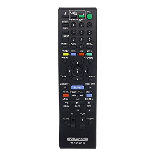 Aurabeam RM-ADP069 Replacement AV Remote Control for Sony Audio Video Home Theater System (RMADP069 / 148980611/1-489-806-11)