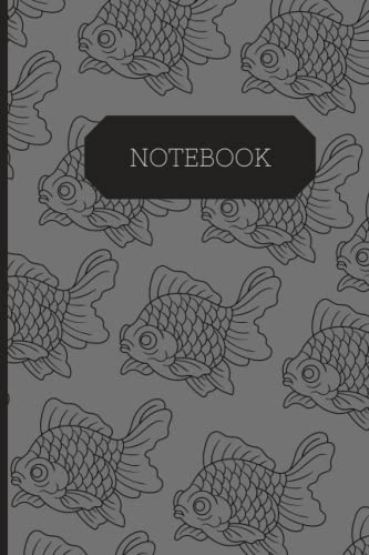 Goldfish Notebook: Gold Fish Composition Notebook - Aquarium Log Book - Lined Pages 6x9