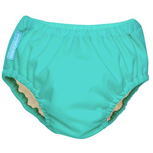 Charlie Banana - Pannolino da nuoto 2 in 1, riutilizzabile, per neonati e ragazze, colore turchese fluorescente
