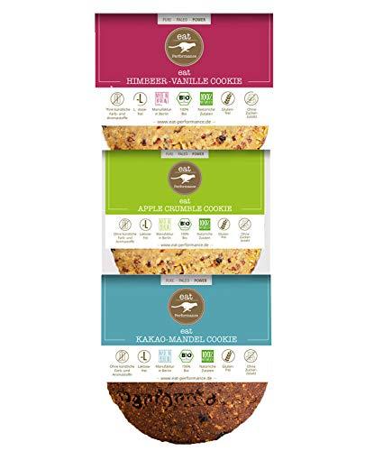 eat Performance® Variety Cookie Box (3x 40g) - Bio, Paleo, Glutenfreie Kekse 100% Natürlichen Zutaten