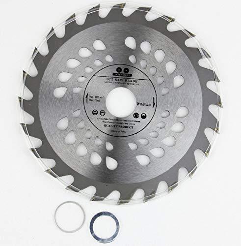 Hoja de sierra circular de 150 mm de diámetro x 22,23 mm de 20 mm de diámetro y 16 mm de agujero de 24 dientes de alta calidad para madera