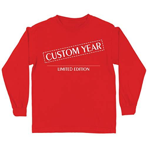 lepni.me Camiseta para Niños Año de Nacimiento Personalizado Edición Limitada de Cualquier Edad Vintage Retro Regalo de Fiesta de Cumpleaños (3-4 Years Rojo Multicolor)