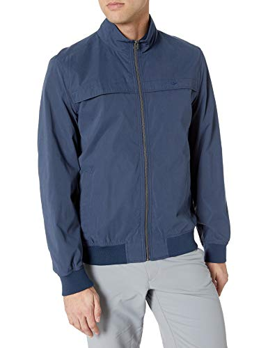 Dockers Men's Clayton Microtwill Golf Bomber Jacket, Royal, X-Large