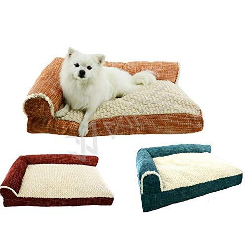 xmwm MittelstäNdische GroßE HundehüTte Kleiner Hund Teddy Golden Husky HundehüTte HundehüTte Bett Kissen Bett Haustier,Gelegentliche Anlieferung,M64x48x10cm