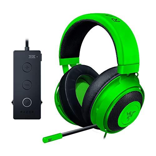 Razer Kraken Tournament Edition - Esports Gaming Headset (Kabelgebundenes Gaming Headphones mit USB-Audio-Controller, THX Spatial Audio, 50-mm-Treiber, Plattformübergreifende Kompatibilität) Grün