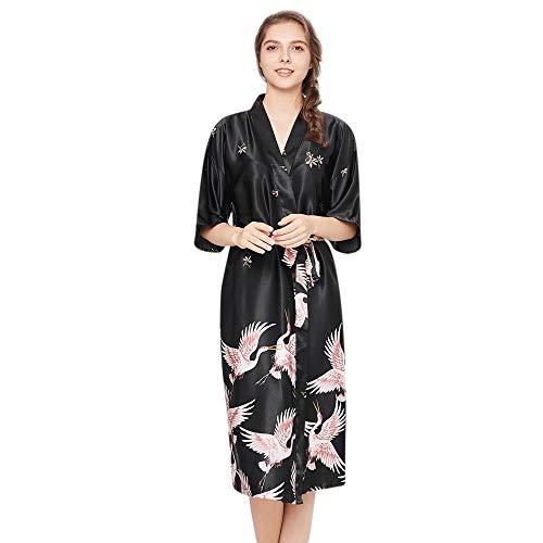 POLPqeD Abito di Moda Sexy Biancheria delle Donne Stampato Robe Panno-Doll Spwear Kimono
