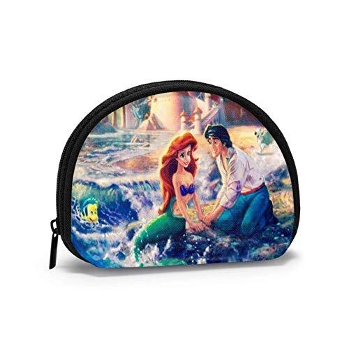 Mermaid Ariel Coin Purse Change Cash Bag Women Men Fashion Small Shell Purse Wallet Portable Storage Bag Jewelry Pouch Key Holder Headphones Multifunctional Bags