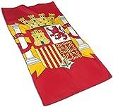 VLOOQ-HX España Bandera Toallas de Mano de Fibra extrafina Toalla de Playa Ultra Suave Toalla de baño para Piscina para niños, niños, niñas y Adultos