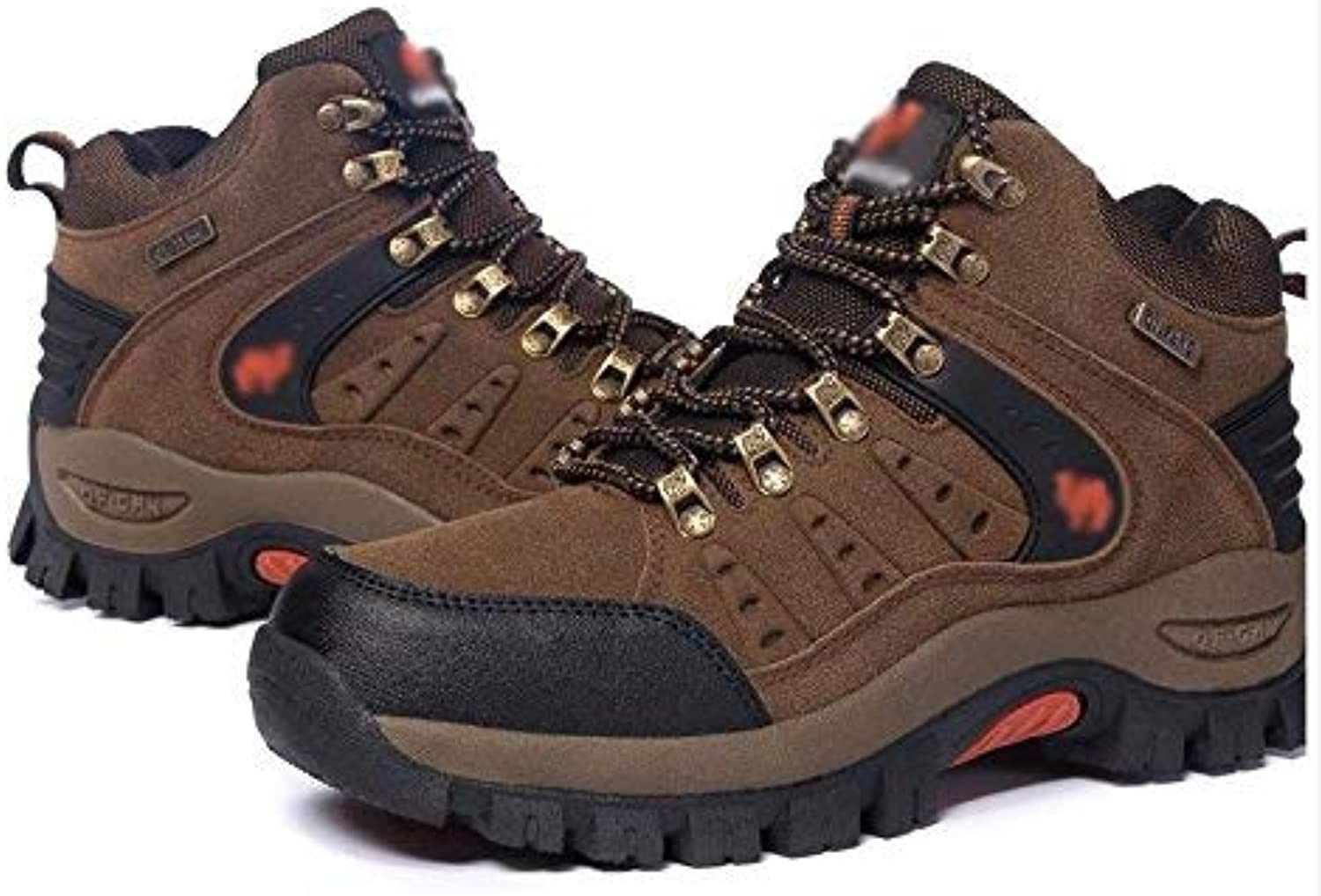 FuweiEncore Men hiking hiking shoes outdoor sports waterproof winter (color   Brown, Size   38)