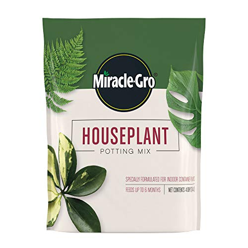 Miracle-Gro Houseplant Potting Mix: Fertilized, Perlite Soil for Indoor Gardening,...