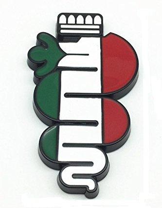 Alfa Romeo Stickers エンブレム イタリアンカラー ヴィスコンティ 蛇 アルファロメオ ロゴ ステッカー デカール シール (ブラック) [並行輸入品]
