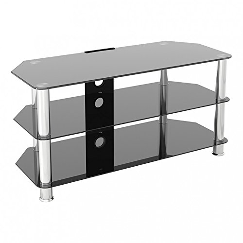 King Glass TV Stand for HD LED LCD 4K 8K QLED TVs up to 50' inch by TV Furniture Direct (100cm,...