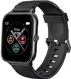 IOWODO Smartwatch, Reloj Inteligente Hombre Mujer con 1.5' Táctil Completa 5ATM para Pulsómetro, Monitor de Sueño,Podómetro, Modo de Natación, Pulsera de Actividad Inteligente para Android iOS