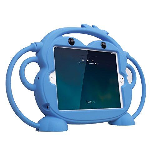 CHIN FAI para iPad Mini 5/4/3/2/1 Funda, Tableta Protectora a Prueba de Golpes Monkey de Doble Cara, Cubierta de múltiples ángulos de visión para Apple iPad de 7,9 Pulgadas Mini 1/2/3/4/5(Azul)