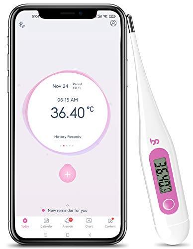 Femometer Termómetro basal - con APP (iOS y Android) en Español - Realiza Seguimiento de los Días Fértiles y Predice la Ovulación para la Planificación Familiar,Morado