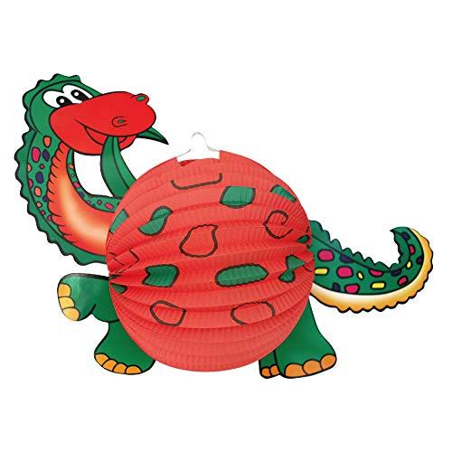 Idena 30226 - Laterne Dino, Größe 34 x 46 cm, Dinosaurier, St. Martin, Lichterfest, Laternenumzug, Advent, Weihnachten, Dekoration