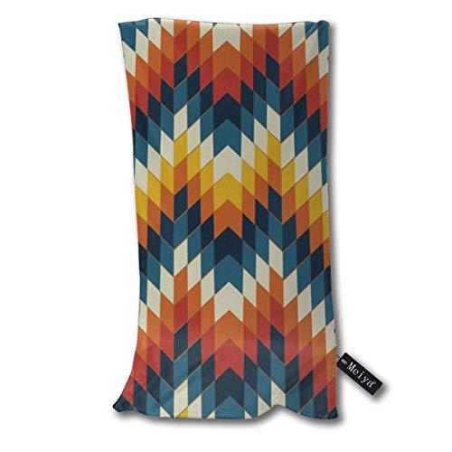 QHMY Navajo Native American Vector Pattern Essuie-Mains Serviette de Plage Instant Cool Cool Ice Towel Gym Quick Dry Towel Microfibre Towel Cooling Sports Towel 12 X 27.5 inch