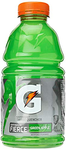 Gatorade Fierce Green Apple, Green, Thirst Quencher Sports Drink, 32oz Bottle (Pack of 8, Total of 256 Oz)