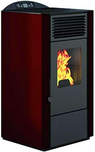 EVa Calor–Poêle à pellets Lory Puissance thermique 9kW Rouge