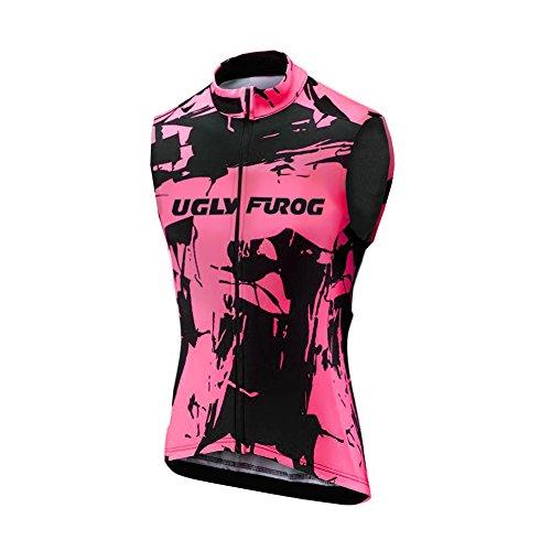 Uglyfrog Herren-Bekleidung Sleeveless T-Shirts Herbst mit Fleece Full Zip Radsport Weste 01, Herren, Color 09, Size XXX-Large
