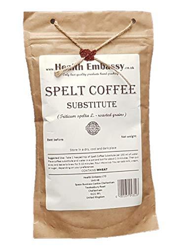 Health Embassy Caffè di Farro Sostituto (Triticum spelta - roasted grains) / Spelt Coffee Substitute, 100g