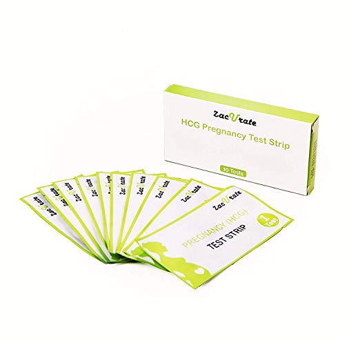 Zacurate Pregnancy Family Planning Home Test Kit, 1 Month Supply (10 HCG Strips)