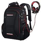 Großer Reiselaptop-Rucksack für Männer passt bis zu 17 Zoll Laptop RFID Wasserabweisend Computer Bookbag für Business College Schule