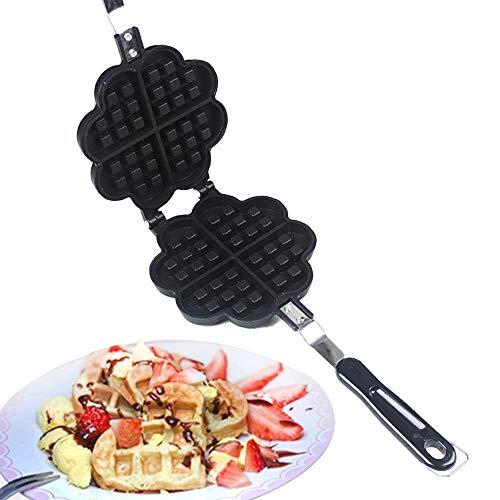 LIANGANAN Hierro de waffler Antiadherente con Control de Dorado Ajustable y Placas Anti-desbordamiento para el Desayuno, el Almuerzo o los bocadillos zhuang94