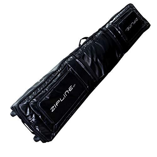 Zipline Ski Bag Wheeled Double Ski Bag (Black, 180 cm)