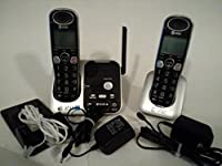 AT T 32200 DECT 6 0 Cordless Phone Black Silver 2 Handsets