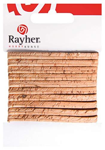 Rayher 63030505 kurkband vlak, 5mm, SB-kaart 100cm, natuur