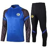 BVNGH Traje de entrenamiento de camiseta de fútbol Inter Milan, manga larga, sudadera transpirable y cómoda (S-XXL) M