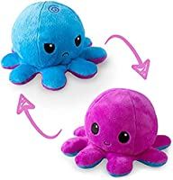 Polka Dot/Scale_TeeTurtle | The Original Reversible Octopus Plushie | Patented Design | Polka Dot and Shimmer