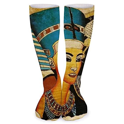 Antike ägyptische Pharao-Socken für Damen, weich, kniehoch, Schlauchsocken, 40 cm, legere Kompressionssocken, athletische lange Strümpfe für Reisen, Fitness, Alltag, Fußball, Sport