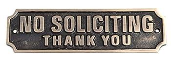 no soliciting sign metal