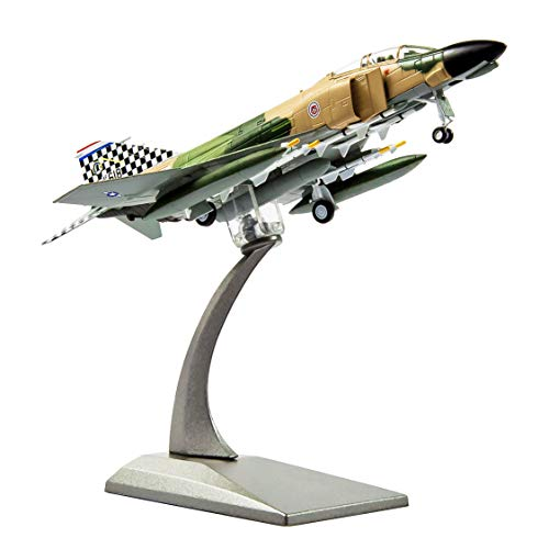 HANGHANG 1:100 F-4C Phantom Diecast Military Airplane Attack Plane Fighter Military Airplane Model for Decoration and Gift